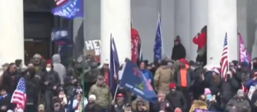 US Capitol building in lockdown as Trump supporters clash with police. [©Sky News YouTube video]