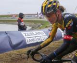 Marianne Vos impegnata nel ciclocross.