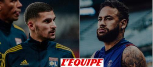 Le XI de mi-saison du journal l'Equipe dévoilé - photo instagram Neymar / Aouar et logo google