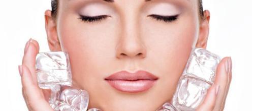 Terapia del hielo para una piel radiante