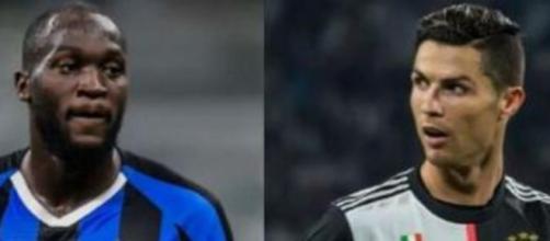 Romelu Lukaku 'sfida' Cristiano Ronaldo.