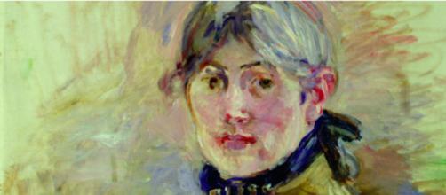 Berthe Morisot's self-portrait was intentionally unfinished. ©Musée Marmottan Monet, Paris, France/Bridgeman Images