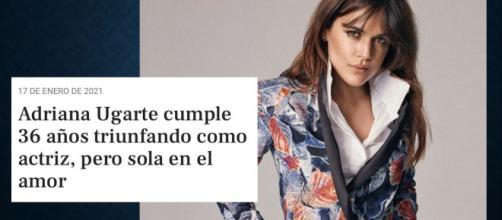 Las redes sociales se inundan de críticas al titular machista sobre la vida amorosa de Adriana Ugarte