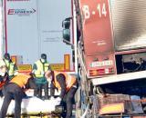Fallecen tres camioneros atropellados en Tordesillas
