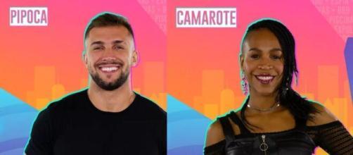 """Arthur e Karol Conká estarão no """"BBB21"""". (Fotomontagem)"""