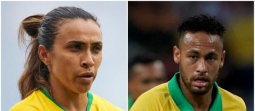 Marta e Neymar aparecem em questão do Enem. (Arquivo Blasting News)
