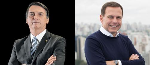 Bolsonaro e Doria começam o novo ano trocando farpas. (Fotomontagem)