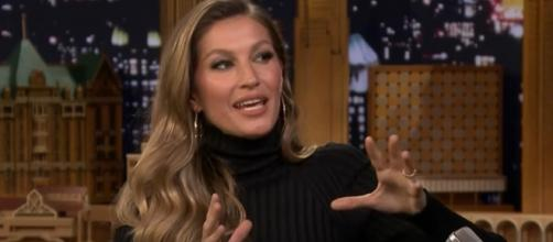GIsele shares an inspirational message to her social media followers (© The Tonight Show Starring Jimmy Fallon/YouTube)