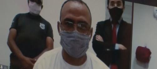 Vereador preso toma posse por videoconferência em presídio. (Beto Silva/TV Paraíba)