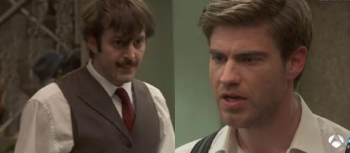Il segreto, spoiler Spagna: Adolfo colpisce con un pugno Ramon appreso che maltratta Marta.