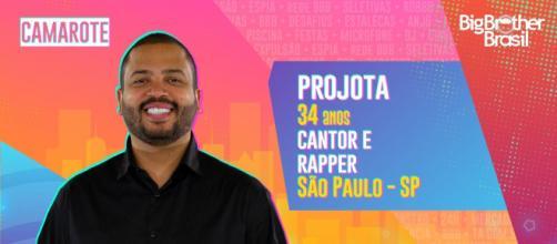 Projota está no 'BBB 21'. (Reprodução/TV Globo)