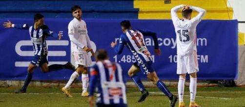 El segundo gol del Alcoyano, obra de Juanan, llegó en la segunda parte de la prórroga