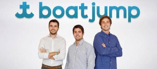 Alfonso Pastrana, CFO, Jaime Vara, CEO y Pablo Ruibal, COO de Boatjump