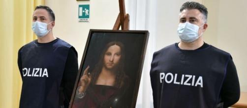 Italian Police Find Stolen Copy of Leonardo 'Salvator Mundi' - (Image via courthousenews/Youtube)