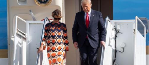 Melania Trump llega a Florida e ignora a los reporteros