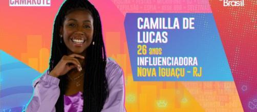 Camilla de Lucas é participante do 'BBB21'. (Reprodução/TV Globo)