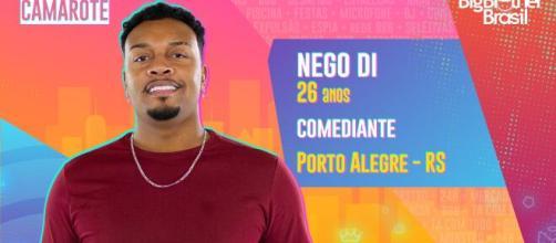 Nego Di é participante do 'BBB21'. (Reprodução/TV Globo)