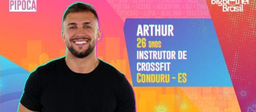 Arthur Picoli está no 'BBB21'. (Reprodução/TV Globo)