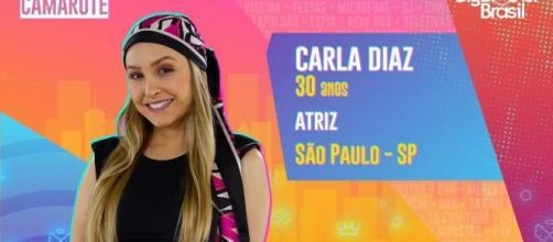 'BBB21': Carla Diaz tem 30 anos. (Reprodução/TV Globo)