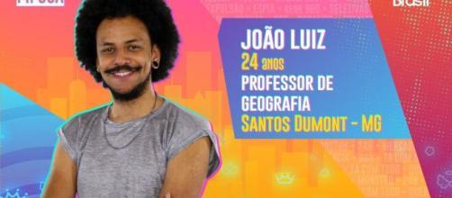 João Luiz é participante do 'BBB21'. (Reprodução/TV Globo)