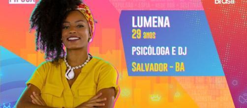 Lumena é participante do 'BBB21'. (Reprodução/TV Globo)