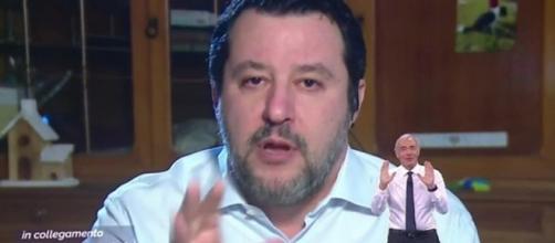 Matteo Salvini favorevole all'ipotesi Berlusconi al Quirinale.