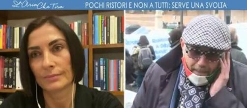 Alessia Morani e il ristoratore Paolo Bianchini.