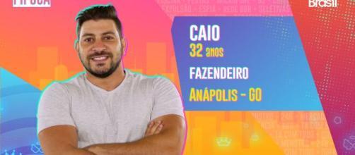 Caio é participante do 'BBB21'. (Reprodução/TV Globo)