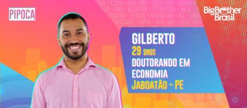 Gilberto participante do 'BBB21'. (Reprodução/ TV Globo)