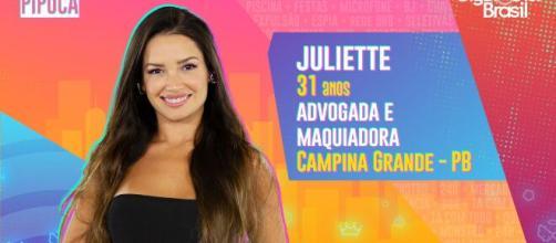 Juliette é participante do 'BBB21'. (Reprodução/TV Globo)