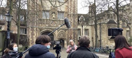 Professor Catherine Barnard from Trinity College and Nina Kojima + Partisan Media Crew. © Vida Breze