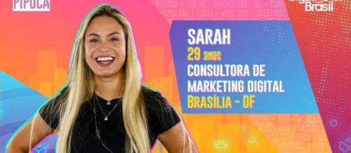 Sarah é participante do 'BBB21'. (Reprodução/TV Globo)