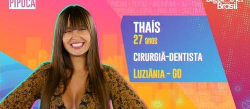 Thaís faz aniversário em estreia do 'BBB21'. (Reprodução/TV Globo)