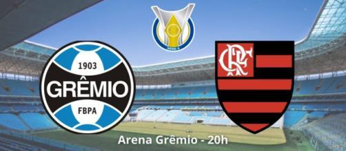 Grêmio x Flamengo: como assistir ao vivo. (Fotomontagem)