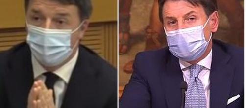Matteo Renzi e Giuseppe Conte.