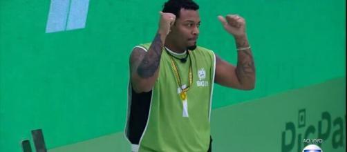 'BBB21': Nego Di vence prova e é o primeiro líder do reality. (Reprodução/TV Globo)