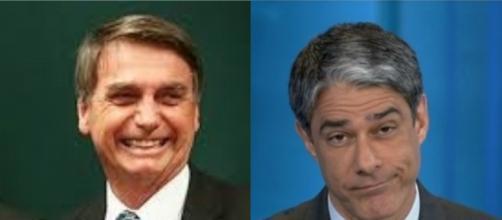 Bolsonaro recebe resposta de William Bonner. (Arquivo Blasting News)