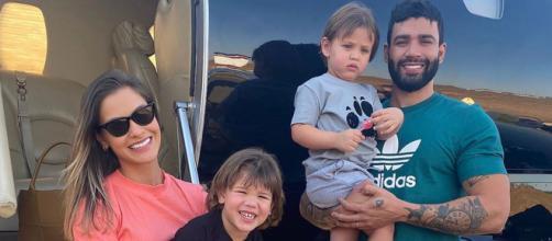 Gusttavo e Andressa foram vistos juntos após a separação há 15 dias atrás. (Arquivo Blasting News)
