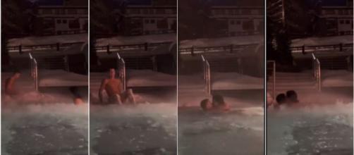 Après la polémique, la vidéo de Cristiano et Georgina dans la piscine fait le buzz - ©captures d'écran vidéo Instagram