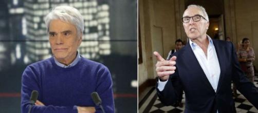 Vente OM : 'il va y avoir du changement', Bernard Tapie fait des confidences. Montage photo