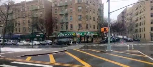 Winter storm of 1/26/21 Bronx New York. [©DivinityzBeAsT YouTube video]