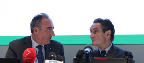 L'assessore Gallera e il presidente Fontana.