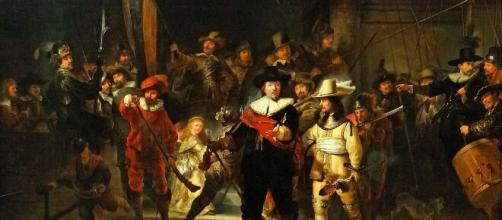 Rembrandt's Night Watch at Amsterdam's Rijksmuseum licensed under the Creative Commons Attribution-Share Alike 4.0 International license.