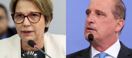 Bolsonaro exonera Onyx e Tereza Cristina para participarem da eleição na Câmara. (Arquivo Blasting News)