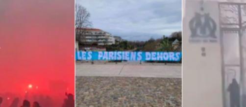 Les supporters de l'OM très en colère aujourd'hui aux abords de la commanderie - Photo captures d'écran Vidéo et photos Twitter