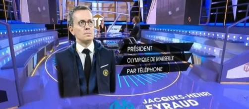 Capture d'écran plateau Téléfoot / Eyraud