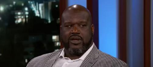 Shaq is slated to host his own Super Bowl pre-game show in Tampa. [©Jimmy Kimmel Live/YouTube]