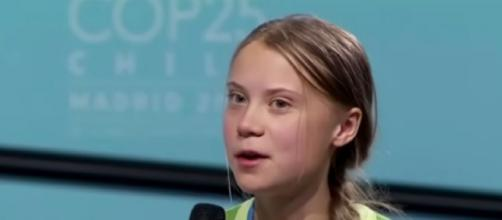 Greta Thunberg speaks at climate summit after being named Time Person of the Year 2019. [©The Telegraph YouTube video]