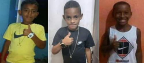 Meninos estão desaparecidos no RJ. (Fotomontagem)