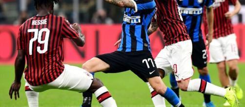 Milan e Inter sono attualmente prima e seconda in classifica.